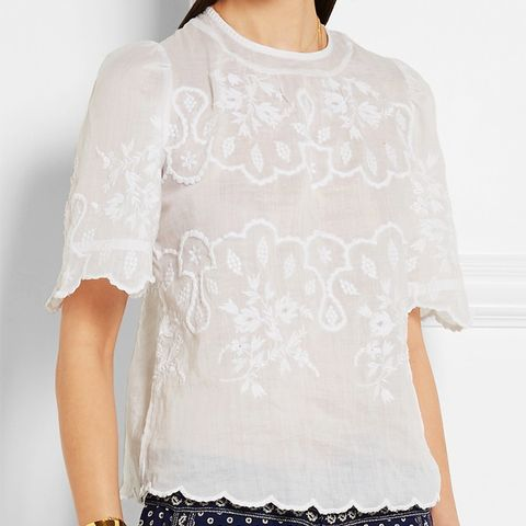 Rumba Embroidered Ramie Blouse
