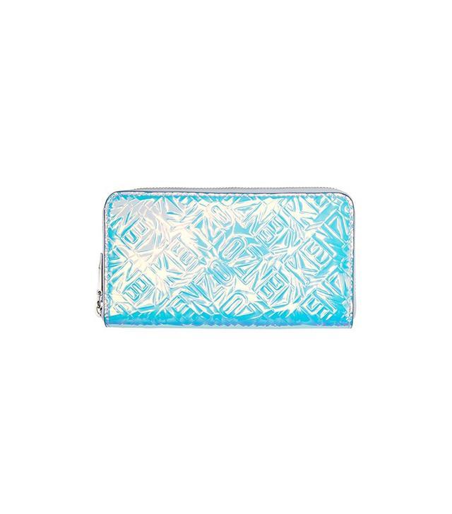 Kenzo Blue Iridescent Zip Wallet