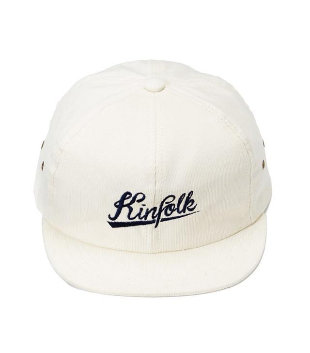 Kinfolk Utica Corduroy Script Short Brim Hat