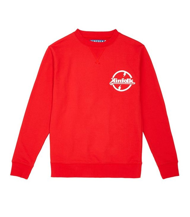 Kinfolk Electric Crewneck Sweater in Red