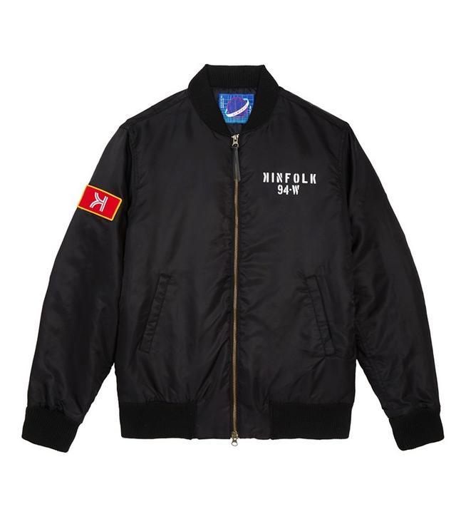 Kinfolk Houston MA-1 Jacket Black