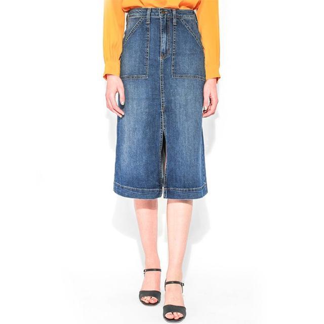 Article& Casey Denim Midi Skirt