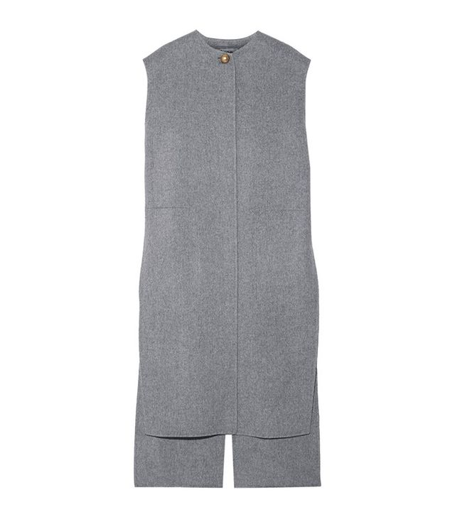 Acne Studios Vento Oversized Wool and Cashmere-Blend Vest