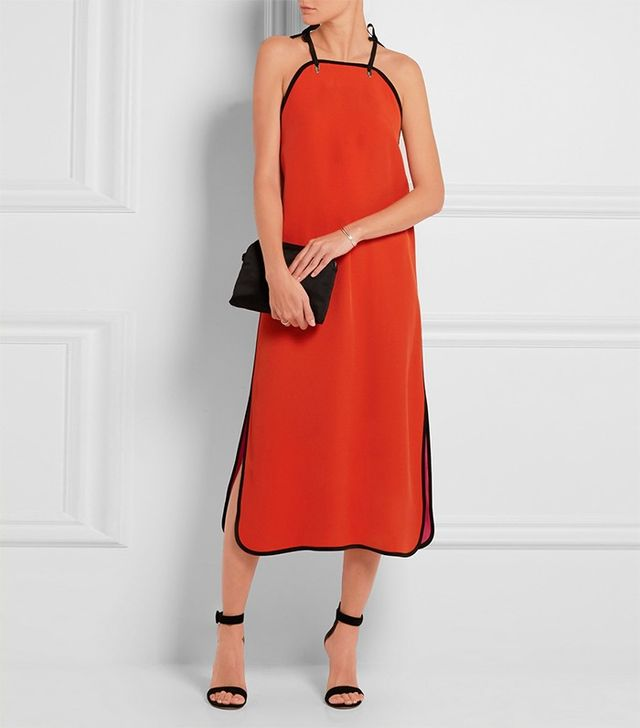 Victoria, Victoria Beckham Color-Block Crepe Dress