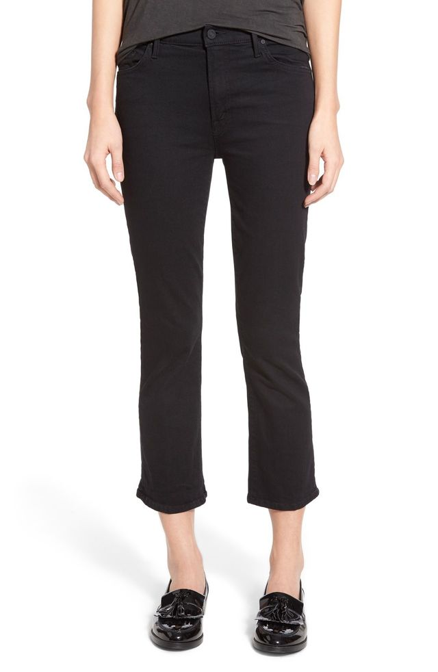 Mother High Rise Crop Bootcut Jeans