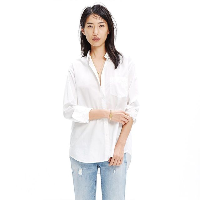Madewell Oversized Boyshirt in Pure White