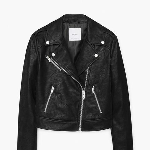 Zippered Biker Jacket