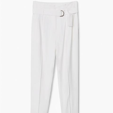 Tab-Detail High-Waist Trousers