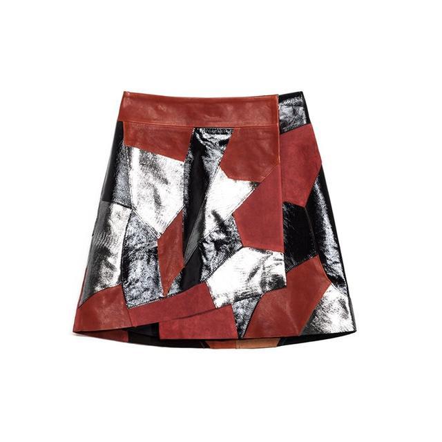 Rodarte x & Other Stories Rodarte Patchwork leather Skirt