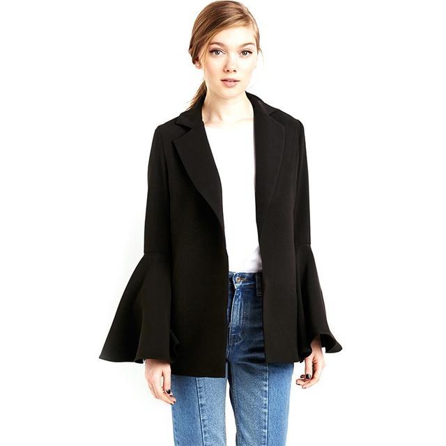 Pixie Market Black Bell Sleeve Blazer