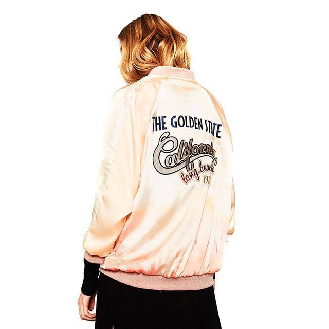 Zara Patch Print Bomber Jacket