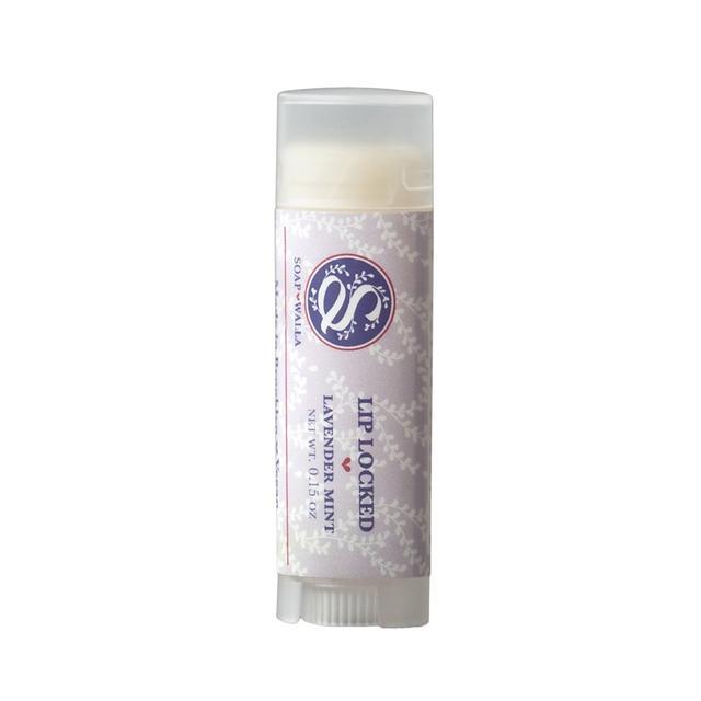 Soapwalla Vegan Lip Locked Lip Balm Lavender Mint