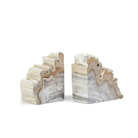 Petrified-Wood Bookends