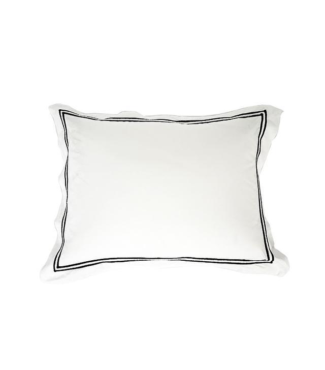 Pratesi White Pillow With Black Border