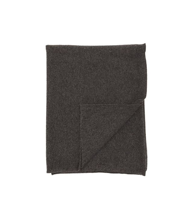 Barneys New York Cashmere Travel Throw With Case