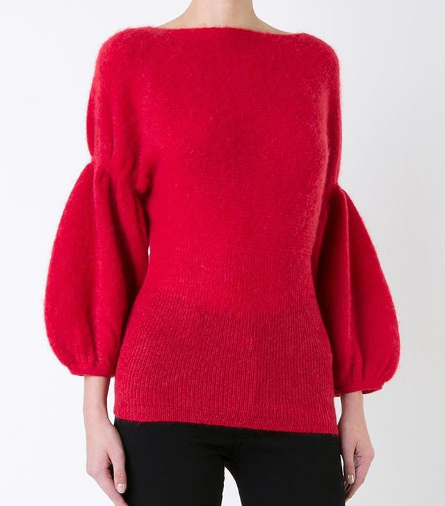 Theatre Products Puff Sleeve Knit Blouse