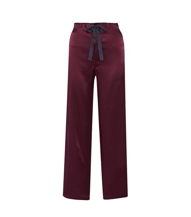 Araks Ally Silk-Twill Pajama Pant