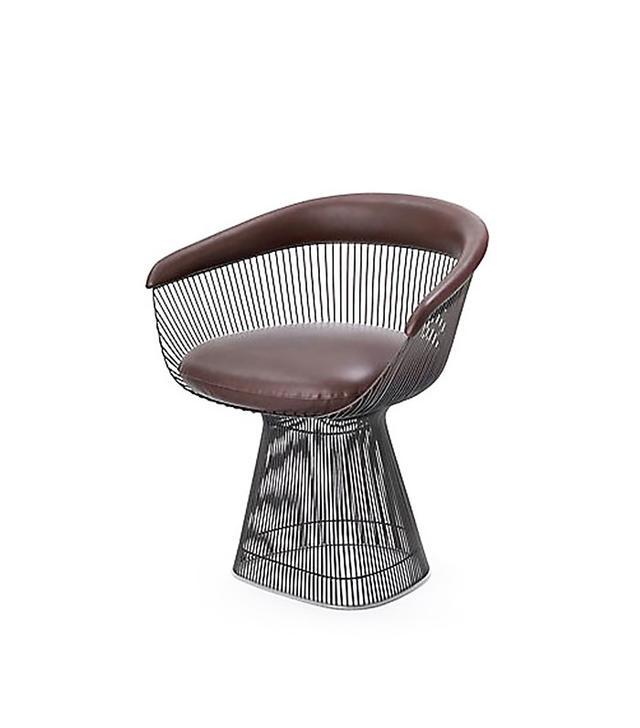 Warren Platner Leather Armchair