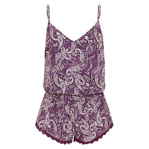 Malibu printed silk playsuit