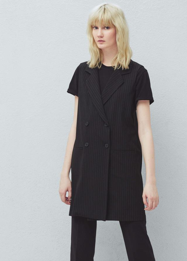 Mango Pinstripe Suit Waistcoat