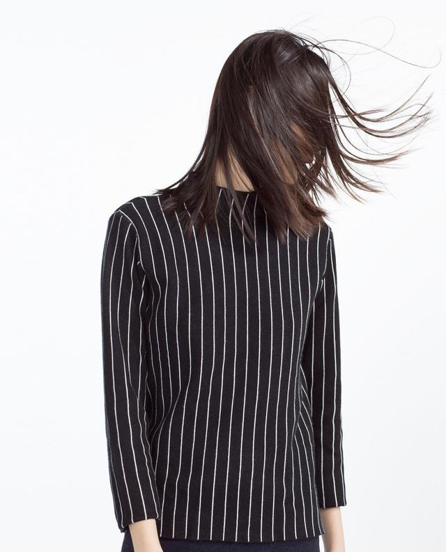 Zara Pinstripe Sweater