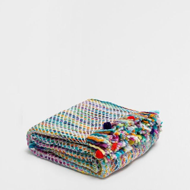 Zara Home Basic Weave Muiltcolored Throw