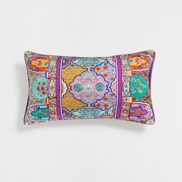 Zara Home Multicolor Geometric Print Cushion