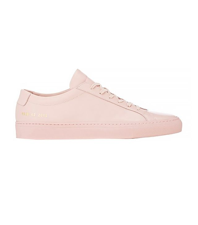 Common Projects Achilles Pink Leather Trainers