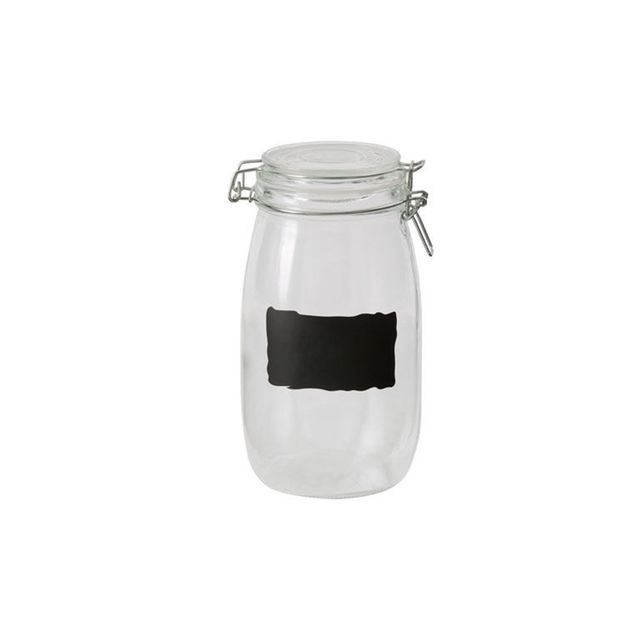 Australian House & Garden Large Glass Jar with Chalk Board, 1.65L