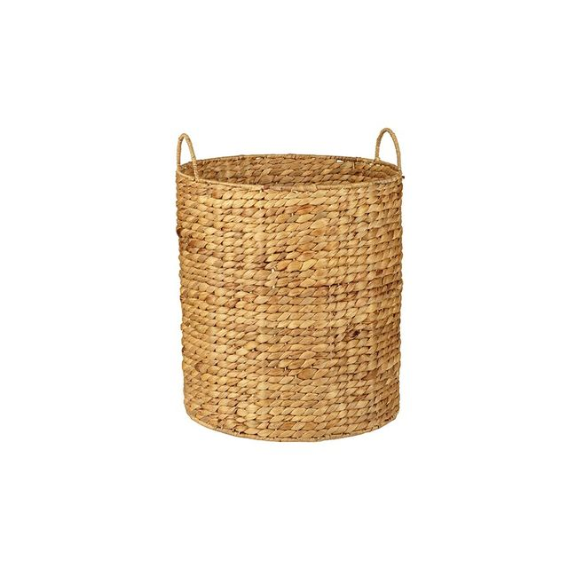 Howards Storage World Water Hyacinth Round Basket with Handle - 32cm x 40cm