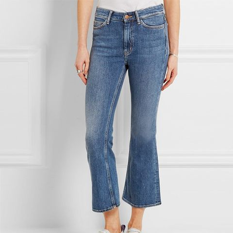 Marty Cropped High-Rise Flared Jeans