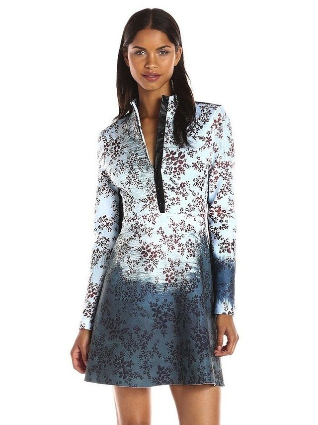 Clover Canyon Haunted Wallpaper Long Sleeve Dress