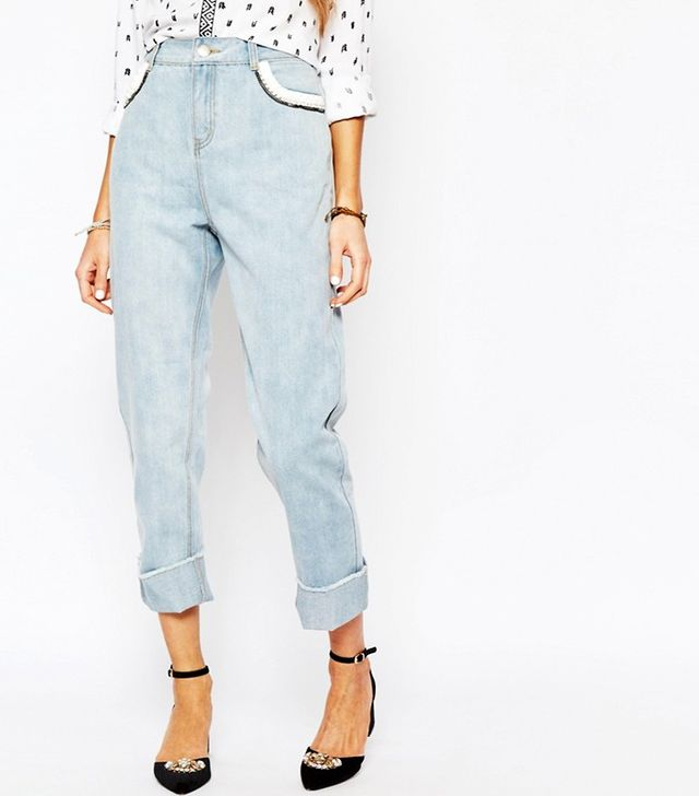 Suncoo Loose Denim Jeans With Pocket Detail