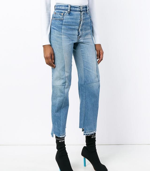 Vetements Straight Leg Biker Jeans