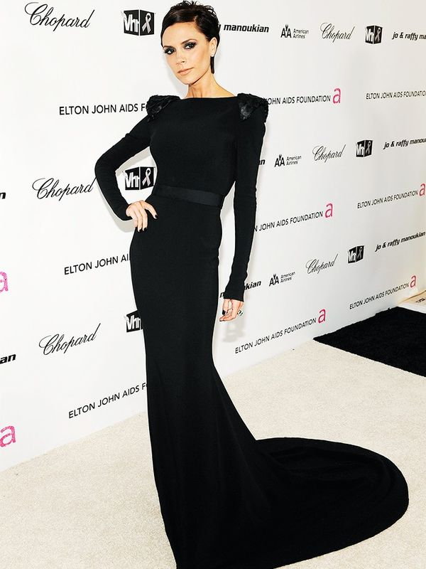Victoria Beckham in Victoria Beckham at the Elton John AIDS Foundation Oscars party, February 2009