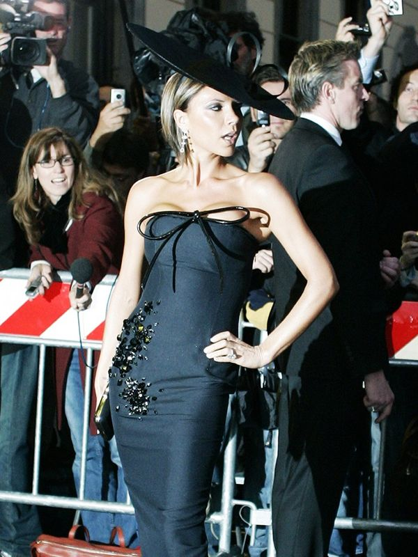 Victoria Beckham on the evening before the wedding of Tom Cruise and Katie Holmes, November 2006