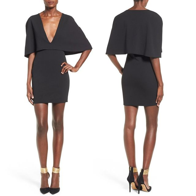 Missguided Cape Body-Con Dress