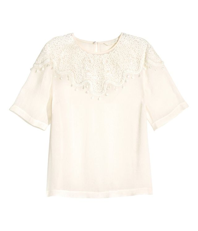 H&M Embroidered Blouse