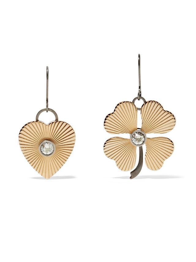 Lanvin Gold-Tone Swarovski Crystal Earrings