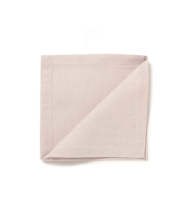 Zara Home Set of 4 Double-Layer Linen Napkins