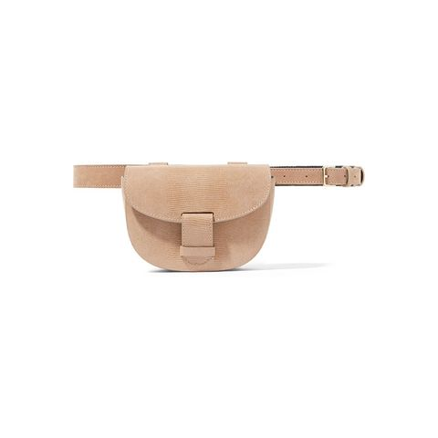 Eva large lizard-effect leather belt bag