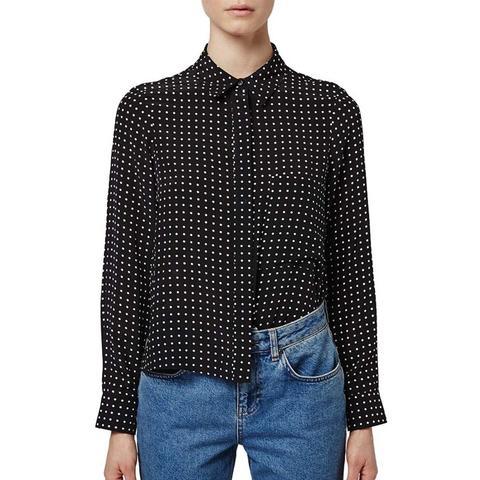 Polka Dot Silk Shirt