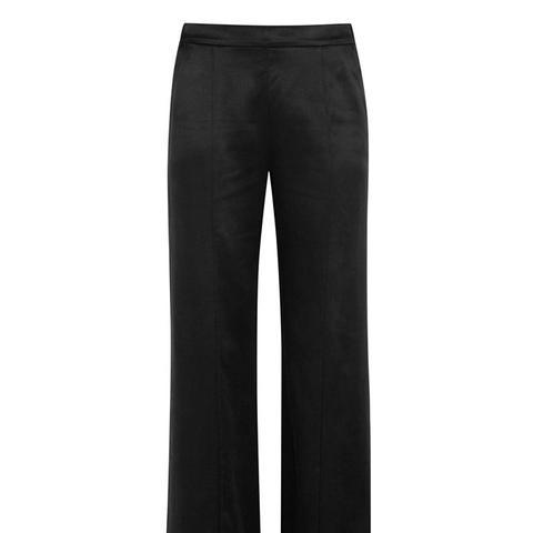 Beckett Silk-Charmeuse Wide-Leg Pants