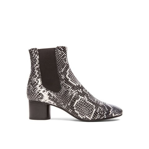 Danae Printed Python Leather Boots
