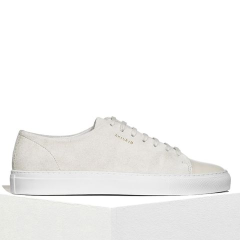 Cap-Toe Sneaker Suede With Leather Toe