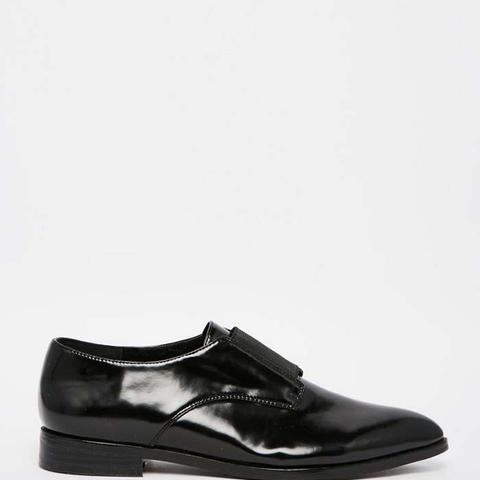 Jasmine Black Elastic Front Pointed Flat Shoes
