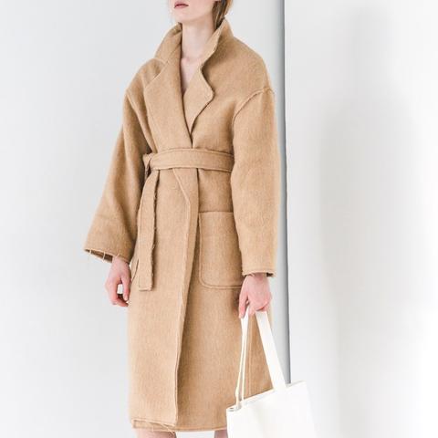 Camel Fray Coat