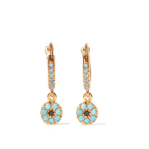 Gold-Plated Cubic Zirconia Earrings