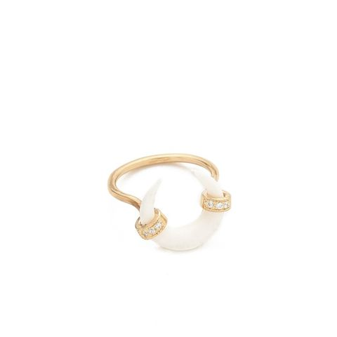 Bone Double Horn Ring