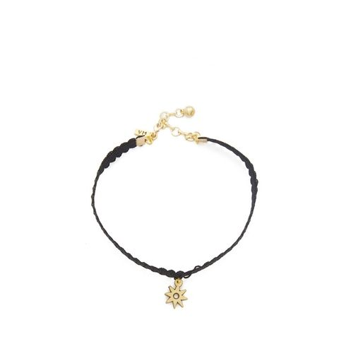 Black Lace Choker with Star Charm
